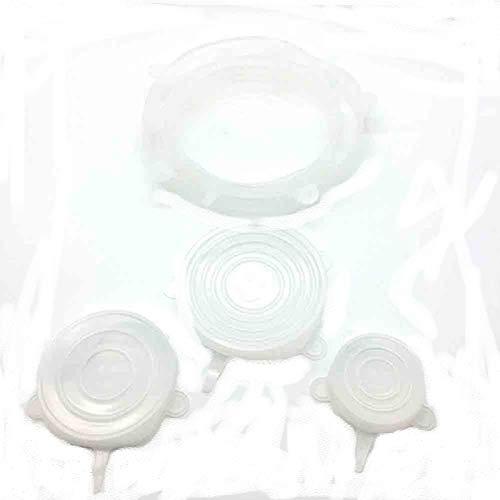 Taicanon Funda de gel de sílice sellada a prueba de fugas de gel de sílice para alimentos, funda de conservación multitamaño, multifuncional para cocina, frigorífico, color blanco