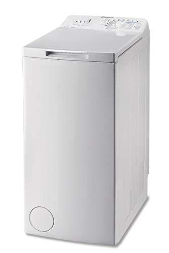 Lave linge Top  Indesit BTWNA61052FR - Lave linge - Pose libre - capacité : 6 Kg - Vitesse d'essorage maxi  1000 tr/min - Classe A++