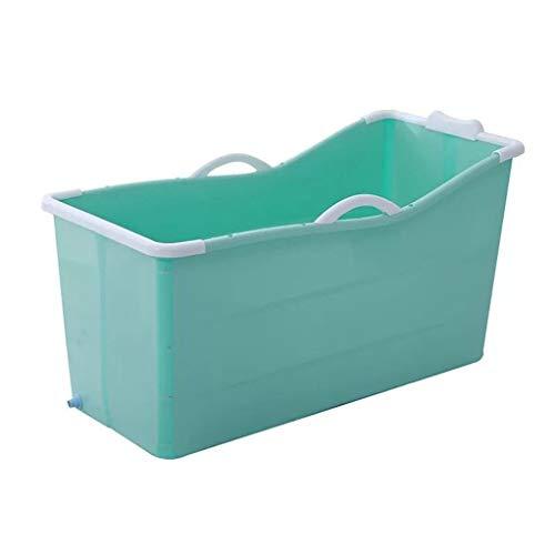 CYLQ Draagbare Badkuip voor volwassenen voor douchecabine, grote plastic opvouwbare babybadkuip, vrijstaande ligbad met afvoer baby badkuip blauw/roze 117 * 52,5 * 63cm