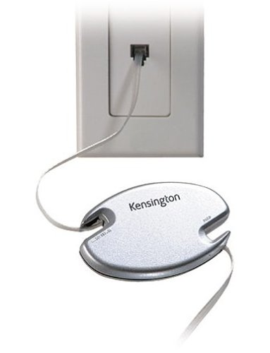 Kensington 33050 8-Feet Retractable RJ-11 Phone Cord / Modem cord