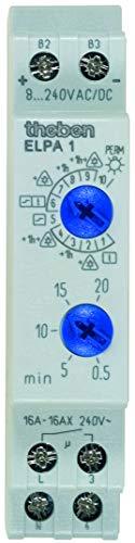 Theben 1469268 Treppenlicht-Zeitschalter ELPA1 8-240V UC Multifunktion, grau, 128 x 85,5 x 17,5 mm