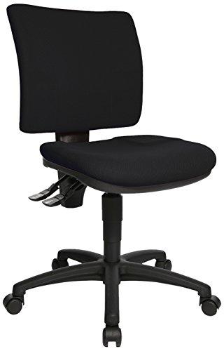 Topstar 8070BC0 U50, Bürostuhl, Schreibtischstuhl, niedrige Rückenlehne, Bezugsstoff, schwarz