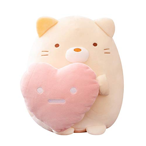 Cartoon Corner Creature Hug Heart Leuk Kind Pluchen speelgoed Soft Cute Dumpling Cat Doll Penguin Doll Pillow (Color : Hagedis)