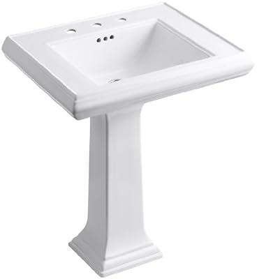KOHLER K-2258-8-0 Memoirs Pedestal Bathroom Sink with 8