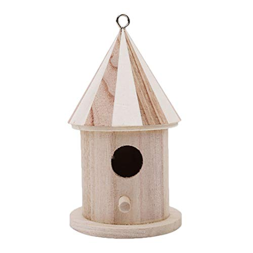 Sperrins Hanging Bird House Jardin Extérieur Patio Résine Décorative Pet Cottage DIY Bois Birdhouse (Petit)