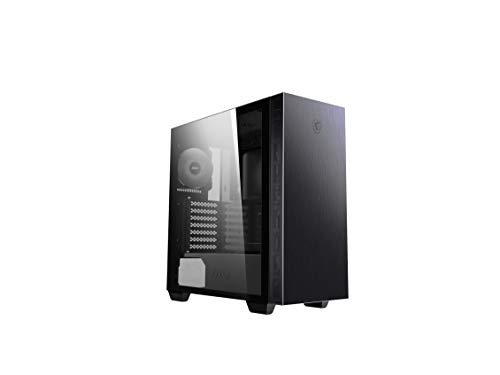 MSI MPG SEKIRA 100P Mid-Tower - Caja de PC Gaming (4 x 120 mm Ventiladores incluidos, E-ATX, ATX, M-ATX, Mini-ITX, USB 3.2 Gen2 Type-C, Ventana Cristal Templado, Filtro Polvo magnético)