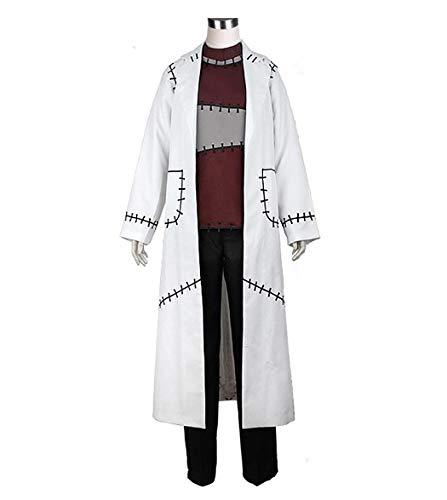 HOLRAN Soul Eater Professor Franken Stein Cosplay Costume Doctor Costume Set (Men-L, White)