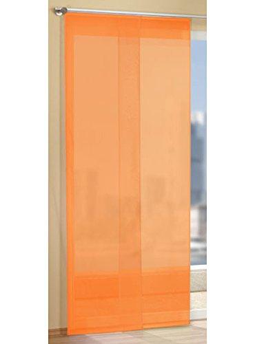 Gardinen Set, 2 x Flächenvorhang Schiebegardine mit Zubehör, Orange