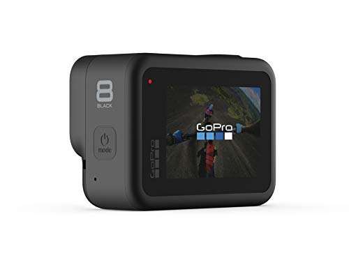 GoPro HERO8 Black - Waterproof 4K Digital Action Camera with Hypersmooth Stabilisation, Touch Screen and Voice Control - Live HD Streaming with GoPo Compact Case (Official GoPro Accessory)