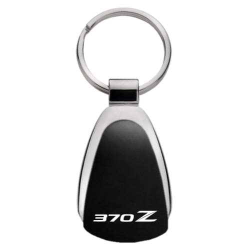 Au-Tomotive Gold, INC. Tear Drop Metal Key Ring for Nissan 370Z (Black)