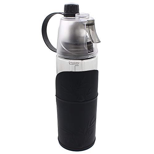 Hensych 600ml Travel Water Fles voor huisdieren en hun eigenaar, Pets Go Out Begeleidende Cup Dual Purpose Spray Type Draagbare Kettle Drink Cup, Zwart