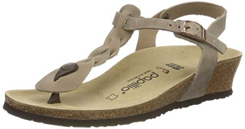Ashley Braided Tabacco Oiled Leather Femme Flip Flops Talons Hauts