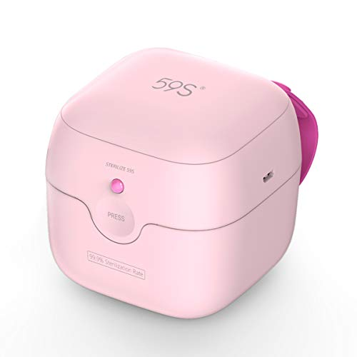 Esterilizador de Chupetes caja de Esterilización Led UV Portáti Elimina de Manera Segura el 99,9% de Germenes y Bacterias