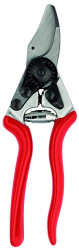 Felco Pruning Shears (F 16) - High Performance Swiss Made Left-Handed One-Hand Garden Pruner with Steel Blade