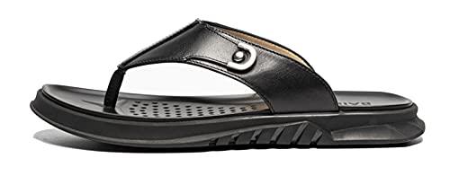 XIKONG Sandalias ergonómicas de los Hombres Sandalias de Punta de Tono de Lazo de la Ropa de Verano de la Moda de Verano de la Moda de la Playa de la Playa de la Playa de l black-40EU