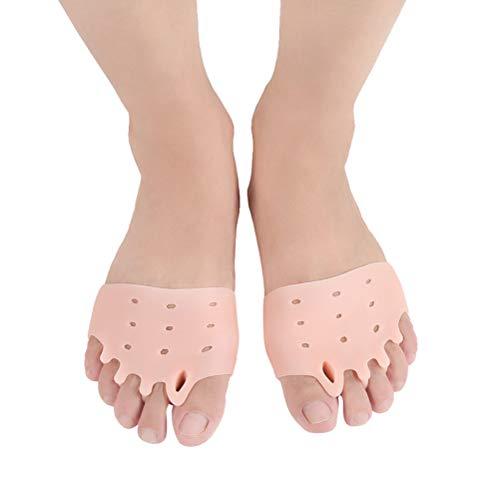 Frcolor 1 paire de coussinets d'oignon Correcteur orteil séparateur de protéger Oignon Soulagement pour hallux valgus orteils (Rose)