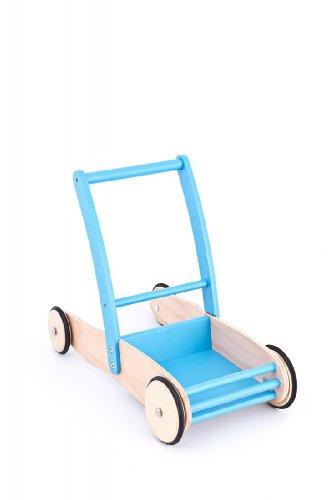 United Kids 13016-02 Lauflernwagen/Laufwagen Max aus Holz, blau