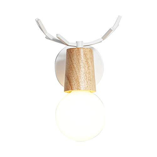 ZHCSYL Lámparas de pared Minimalista interior Cableado lámpara de pared, lámpara de pared LED, decorativo lámpara de cabecera, accesorio rotativo de la pared de la luz, con base metálica y de madera,