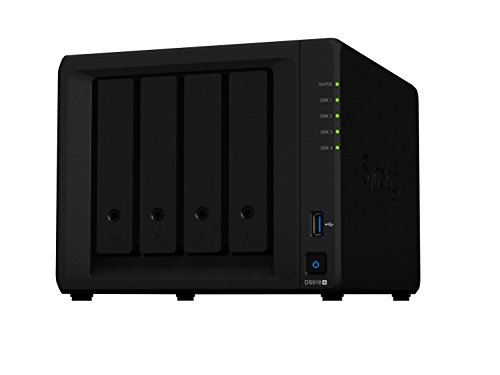 Synology DS918 + 24TB (4 x 6TB WD RED) 4 Bay Desktop-NAS-Einheit