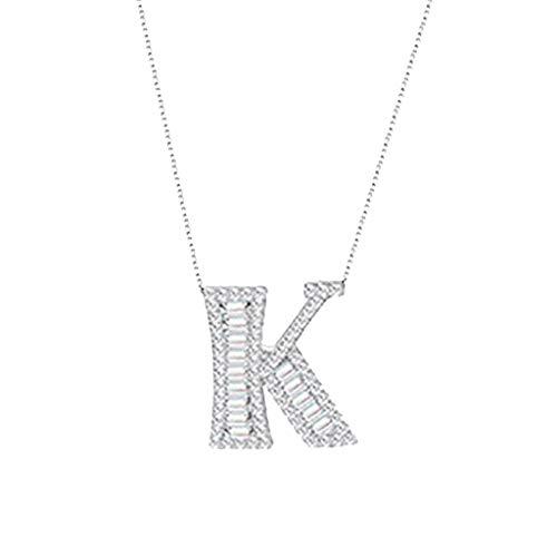Satiable Halskette Damen 26 Initiale Alphabet Anhänger Mädchen Silver Legierung Halskette mit Buchstaben Neue Glänzende Kette Choker Schmuck Schmucksachen Schlüsselbeinkette