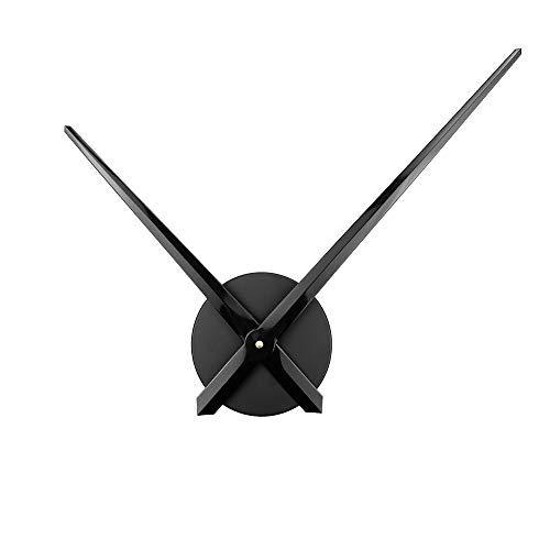 ufengke 3D DIY Schwarz Groß Zeiger Wanduhr Metall für Wohnzimmer Büro Küchen Esszimmer Schlafzimmer, Durchmesser 63cm