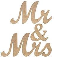 結婚式 Mr&Mrs ミスター ミセス 木製 フォトアイテム 置き物 受付 テーブル ナチュラル (Color : Gold)