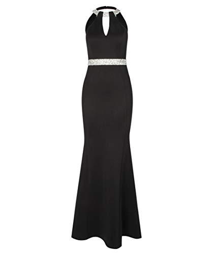 Lipsy London Damen Abendkleid Embellished Keyhole Maxi schwarz (15) 38