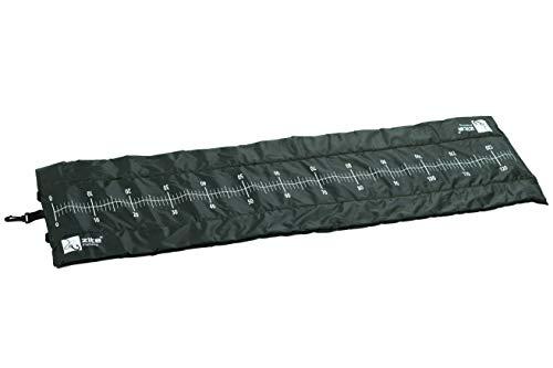 Zite Fishing Raubfisch Abhakmatte für das Raubfischangeln auf Hechte & Zander – 130 x 40 cm – aufgedrucktes Maßband mit Einer Messskala von 125 cm