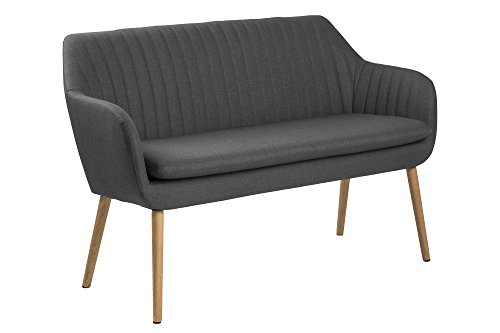 AC Design Furniture Sofabank Wendy, B: 130 x T:62 x H: 85 cm, Metall, Grau
