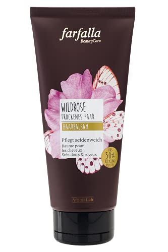 farfalla Wildrose Haarbalsam - mit Rosen- und Arganöl - 100% zertifizierte Naturkosmetik, 150 ml