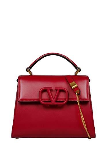 Luxury Fashion | Valentino Garavani Dames TW2B0F53HFB41N Rood Leer Handtassen | Lente-zomer 20