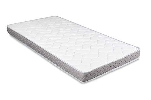 EVERGREENWEB Faltbare Matratze 80x190 cm 12 Hoch aus Polyurethan Kaltschaum für Bettcouch Hypoallergener Weißer Bezug, Orthopädisch Ergonomisch   DAYBED