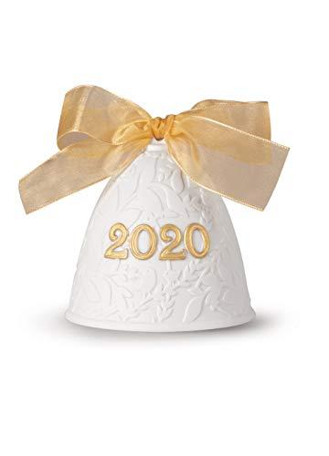 LLADRÓ Campana Navidad 2020. Lustre Oro. Campana De Navidad de Porcelana.