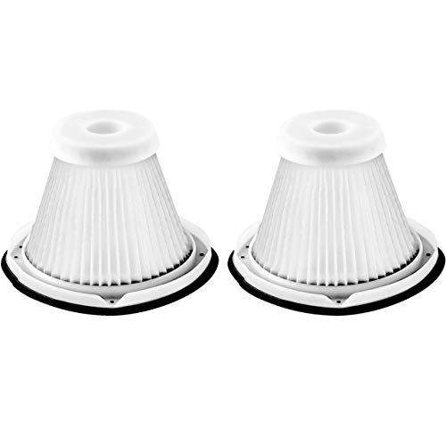 Fette Filter - Vacuum Filter Compatible with Black and Decker Hand Vac For Models #'s BDH1800S, BDH2000SL, BDH2000SLB. Compare to Part # VF200SP - Pack of 2