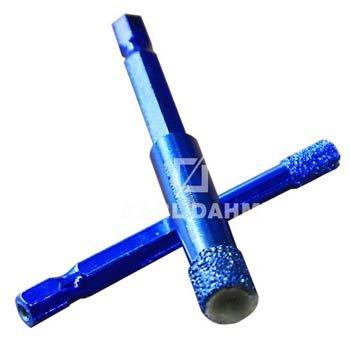 Diamantbohrkrone: Trocken- und Nassbohrkrone mit Bitaufnahme, versch. Durchmesser - Art::50233/12 mm