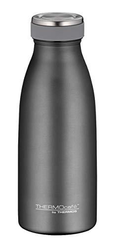 ThermoCafé by THERMOS Botella térmica de acero inoxidable, 350 ml, color gris