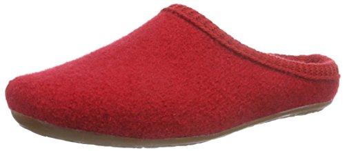 Haflinger Dakota Classic Pantofole, Unisex - Adulto, Rosso, 36 EU