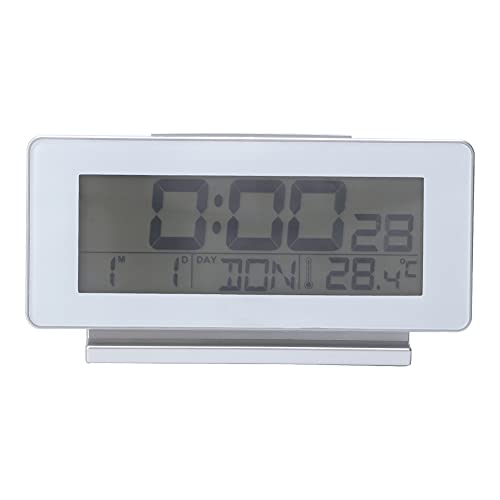 Electronic Alarm Clock, Display Format Support Hours System Function Keys Digital Alarm Clock Plastic and Electronic Components for Home