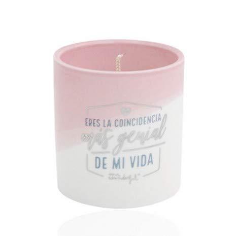 """Mr; Wonderful Woa08921Es Vela Con Mensaje \""""Eres La Coincidencia Más Genial De Mi Vida\"""", Multicolor"""