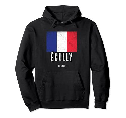 Ville de Écully - France | FR - Drapeau Français - Sweat à Capuche