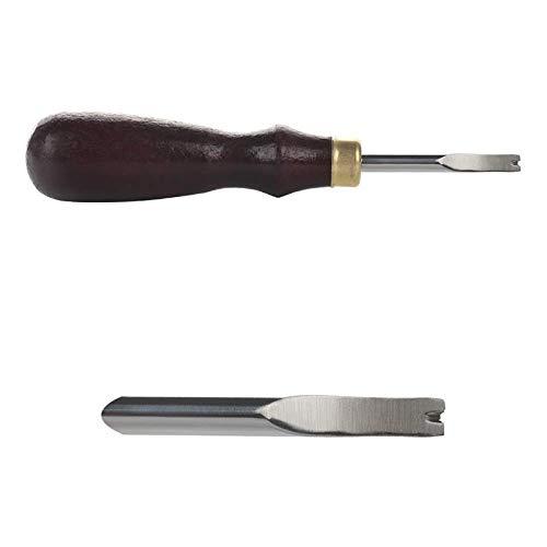 HEQIE-YONGP Leder Werkzeuge 3Pcs 1.5/1.2/1 mm Kanten Leder Beveler Skiving Leder Craft scharfe Schneide Skiver Schneidewerkzeug