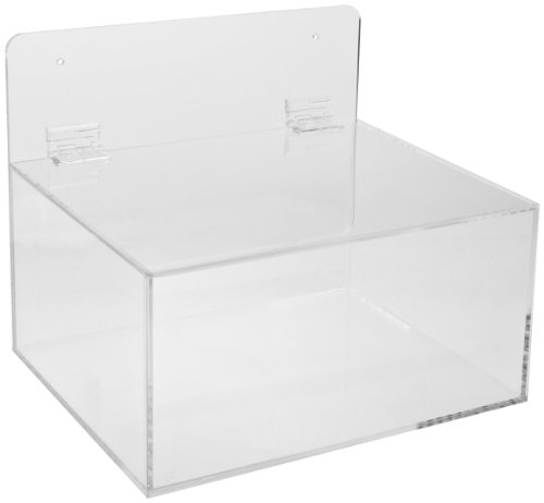 Brady MPPE Plastic Acrylic Miscellaneous Dispenser, Clear, 11-1/2 W, 9-1/2 D, 9-1/2 H