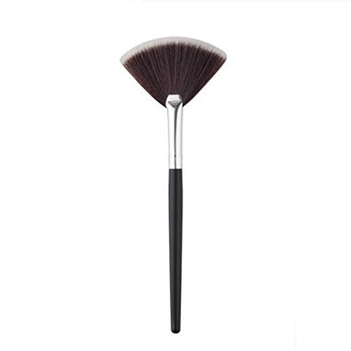 1 Stks Mini Ventilator Vorm Make-up Borstel 15 cm Blending Highlighter Contour Gezicht Losse Poeder Borstel Cosmetische