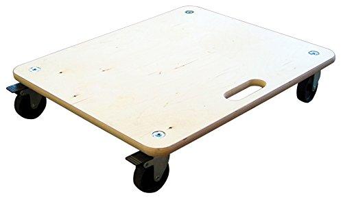 HSI - Tabla de transporte con freno y ruedas duras, diámetro = 100mm, carga máxima 200kg, 60x 50cm