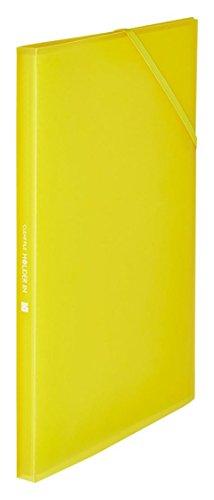 キングジム クリアーファイル ホルダーイン A4 12ポケット 6171-3T 黄 【まとめ買い5冊セット】