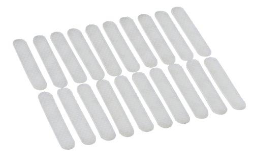 WENKO Anti-Rutsch-Streifen 20 Stück - für Kleiderbügel, 20 Stück, Silikon, 0.8 x 5 cm, Transparent