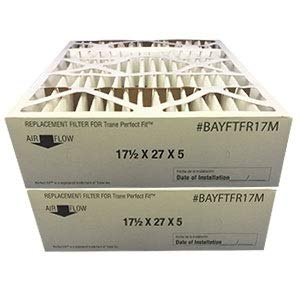 Filters Fast Compatible Replacement for Trane BAYFTFR17M Compat. 17.5x27x5 2pk MERV 11