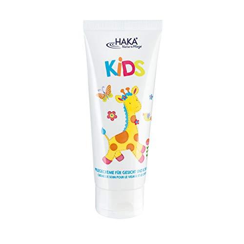 HAKA Kinder PflegeCreme I 75 ml I Milde Pflege für Kinderhaut & Babyhaut I Mit Ölen und D-Panthenol I Reizlinderde Creme I Ohne Farbstoffe