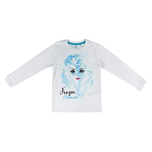 ARTESANIA CERDA Frozen 2 Camiseta de manga larga, Blanco (Blanco C01), 4 Años para Niñas