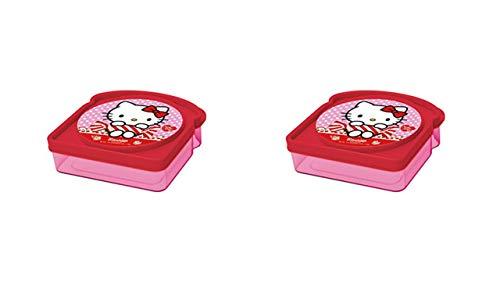 ALMACENESADAN 2328; Pack 2 sandwicheras cuadradas Multicolor Hello Kitty; Producto de plástico; No BPA
